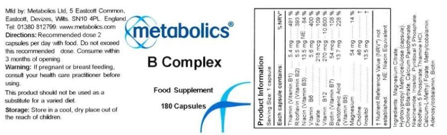 b complex capsules b vitamin supplement ingredients