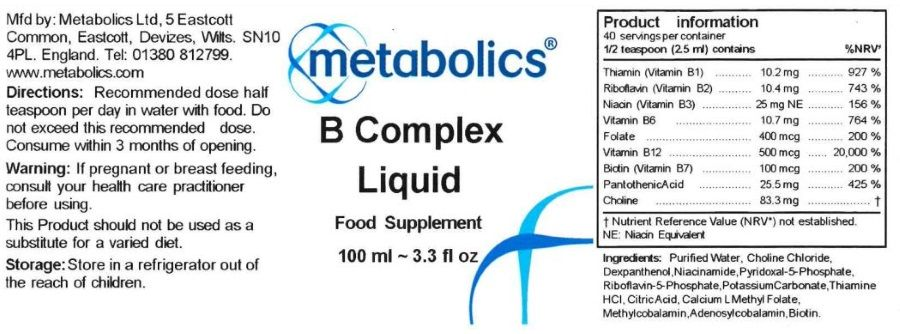 b complex liquid ingredients