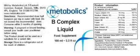 b complex ingredients