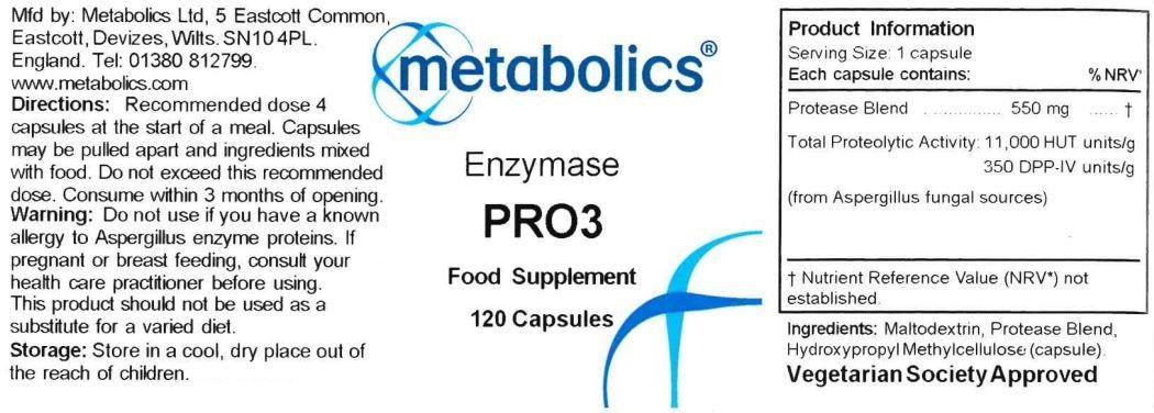 enzymase pro3 supplement ingredients