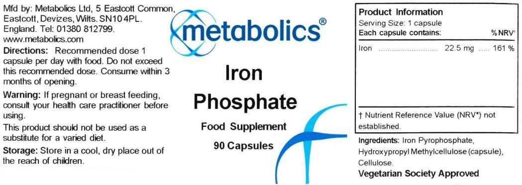 iron phosphate supplement ingredients