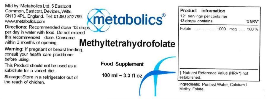 methyltetrahydrofolate 100ml ingredients