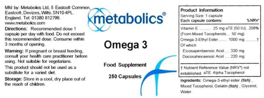 omega 3 250 capsules ingredients