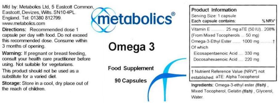 omega 3 90 capsules ingredients