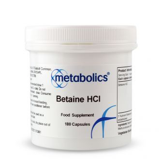 Betaine HCl (Pot of 180 capsules)