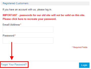 request a password reminder